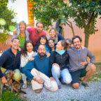 Group photo in the Sunshine House Garden